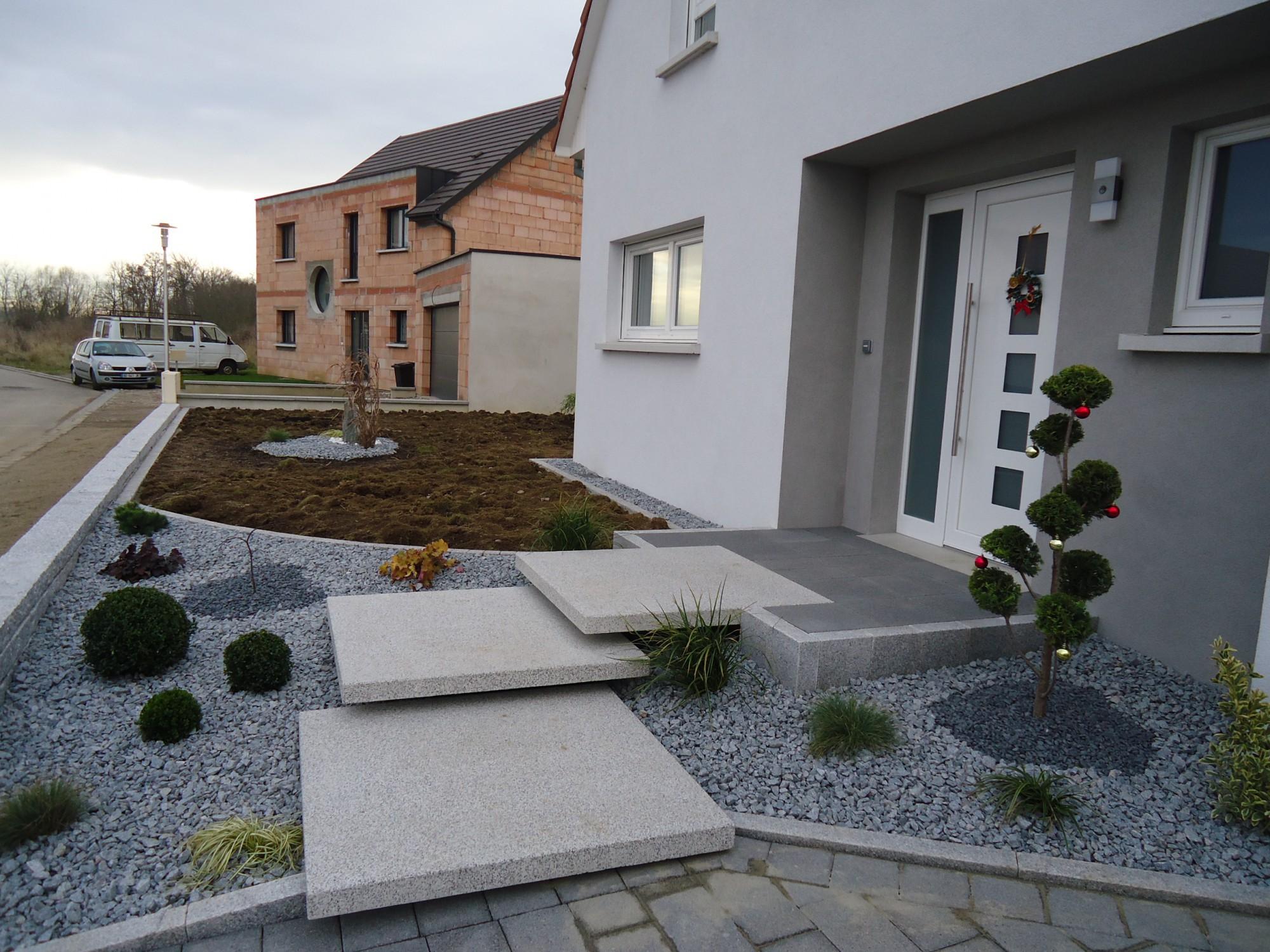 Aménagement Entrée Maison Extérieur escalier paysager entrée maison - lehmann